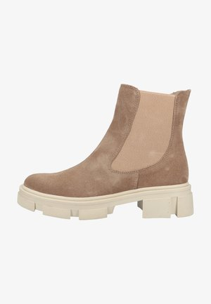 Stiefelette - taupe suede