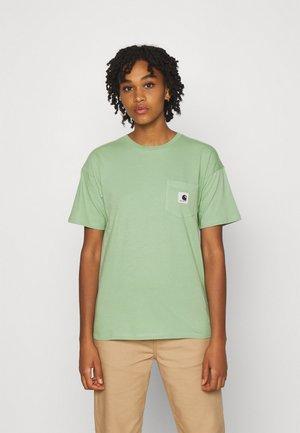 POCKET - Print T-shirt - mineral green