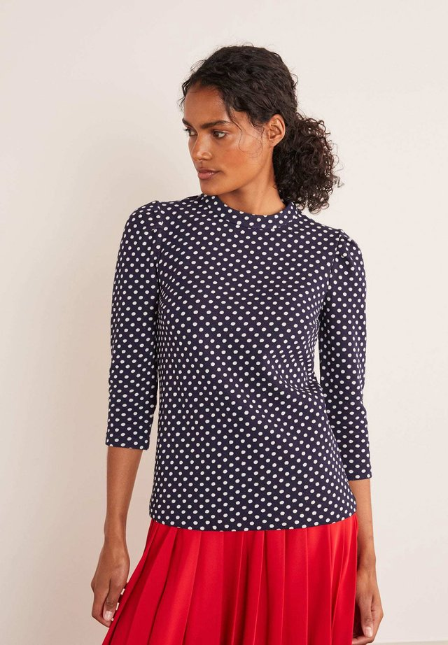 ARIA JACQUARD - Long sleeved top - navy