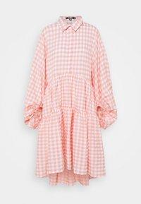 Missguided - CHECK BALLOON SLEEVE SMOCK DRESS - Skjortekjole - pink - 5