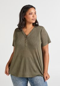 Zizzi - MAMY - Basic T-shirt - ivy green - 0