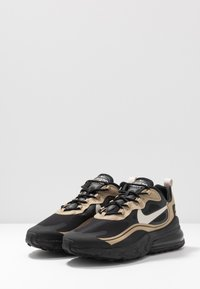 Nike Sportswear - AIR MAX 270 REACT RVL - Sneakers basse - black/light bone/khaki/metallic gold - 2
