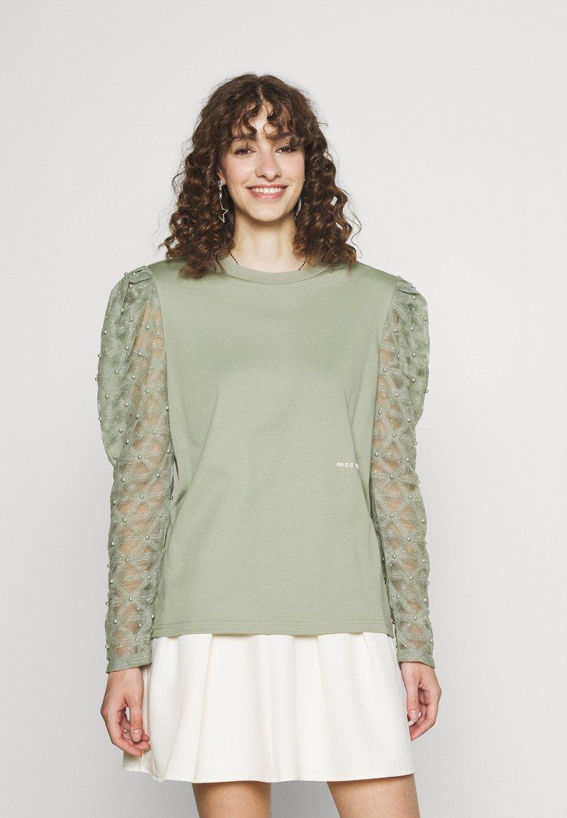Miss Sixty - Maglietta a manica lunga - green grey