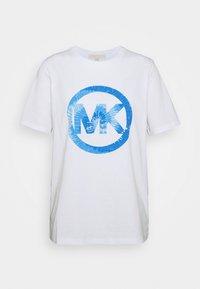 TIEDYE - Print T-shirt - crew blue