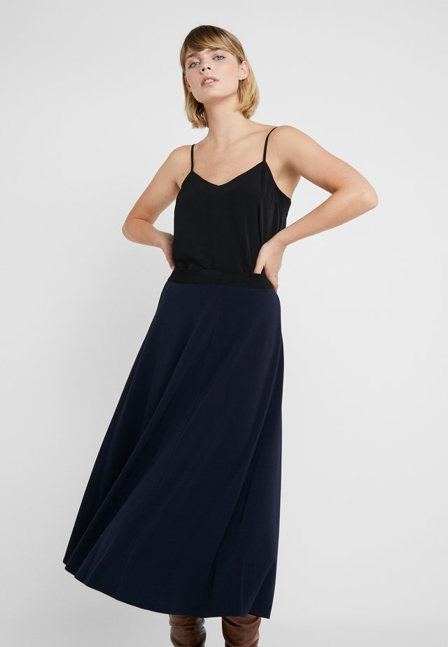 ANABEL - A-line skirt - night blue