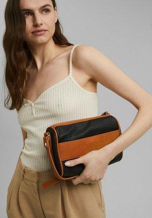 Across body bag - black, orange