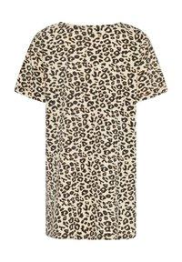 Live Unlimited London - ANIMAL - Print T-shirt - beige, black - 3