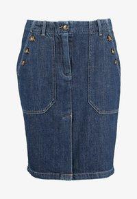 Leon & Harper - JACQUIE BRUT - Pencil skirt - blue - 4
