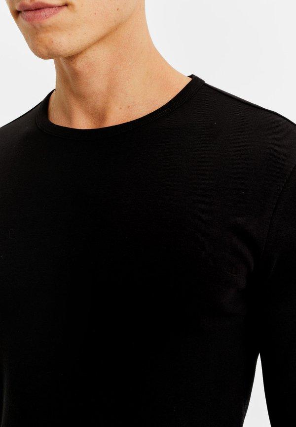 WE Fashion Bluzka z długim rękawem - black/czarny Odzież Męska VBZV