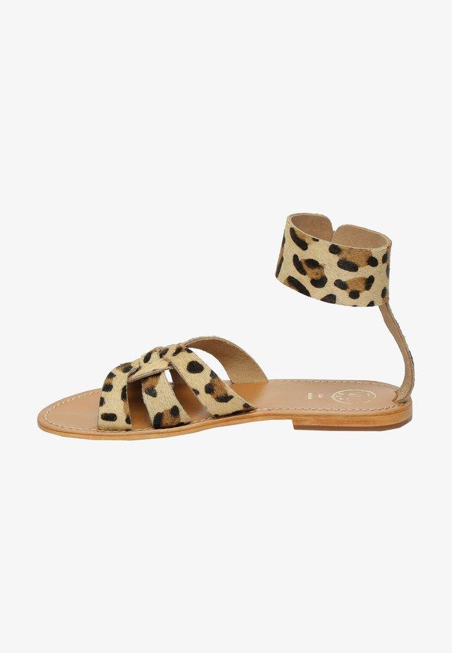 DRYSTAN  - Sandales classiques / Spartiates - leopard print