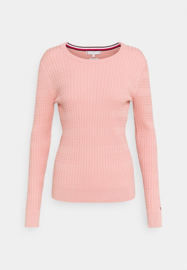 ESS CABLE - Sweter - soothing pink