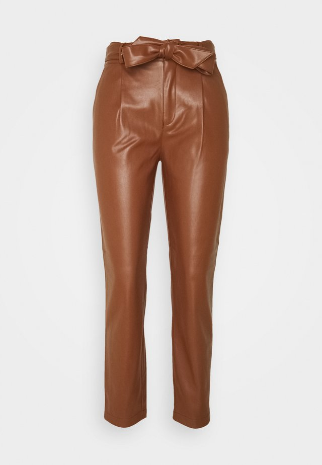 BELTED TROUSER - Trousers - tan