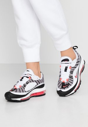 AIR MAX 98 - Sneaker low - white/solar red/silver/black
