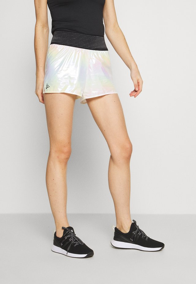 SHINY SPORT SHORTS - Sports shorts - silver