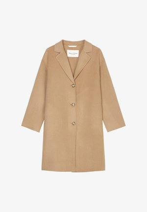 SP, REAL DOUBLE FACE WORKMANSHIP DETAILS, SINGLE BREASTED, UNLIN - Classic coat - soft caramel