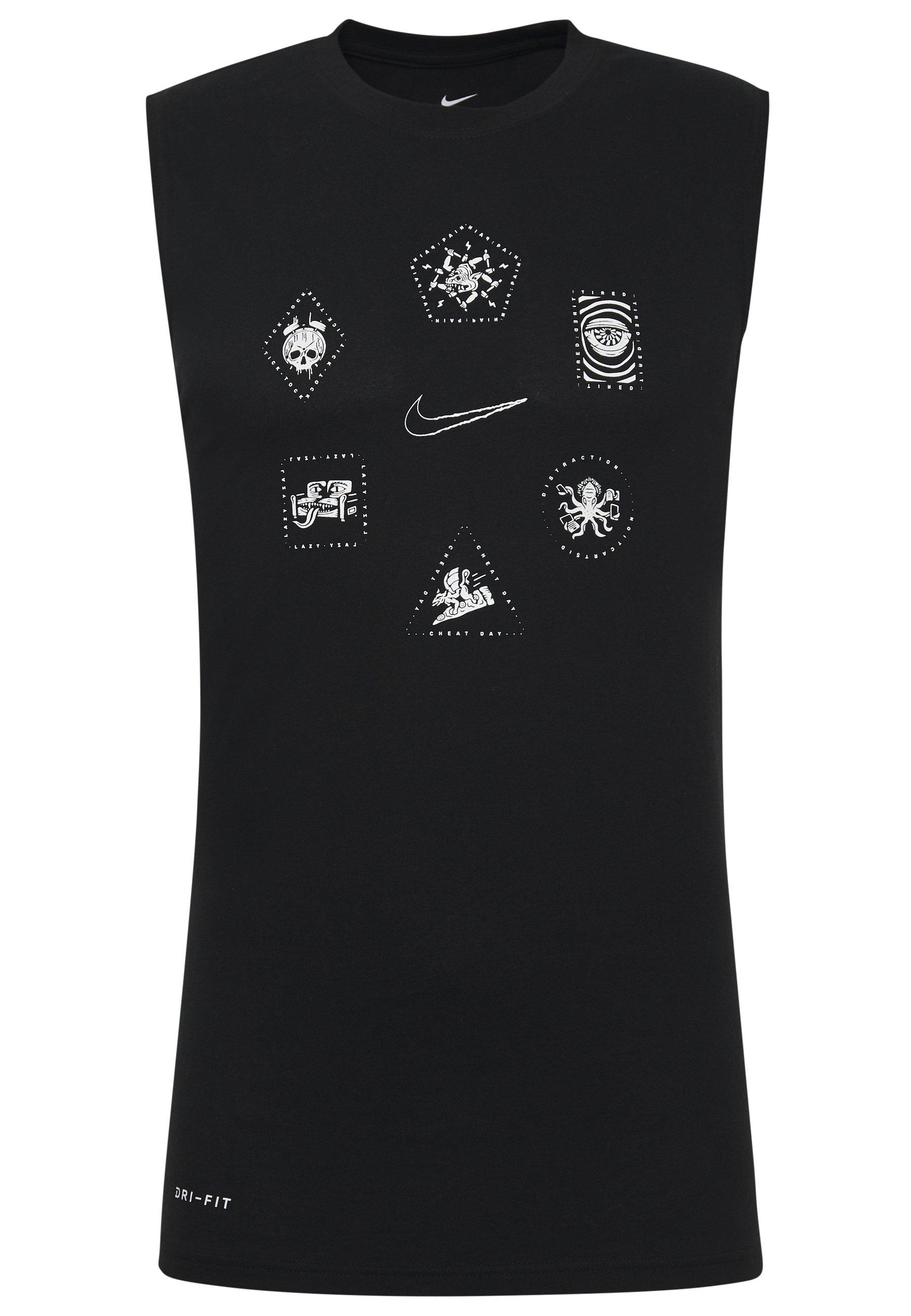Nike Performance Koszulka Sportowa - Black/white