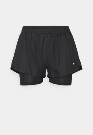 SHORT 2-IN-1 - Sports shorts - black