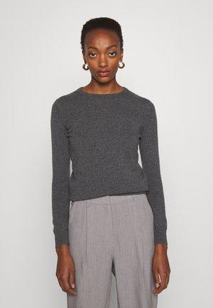 BASIC SWEATER - Stickad tröja - dark gray