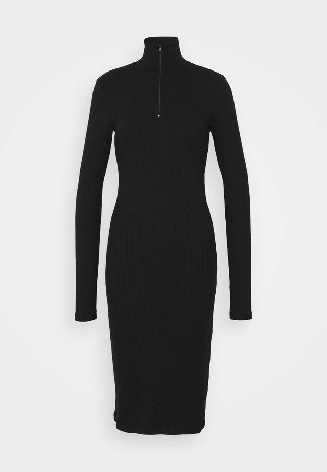ELLY DRESS - Stickad klänning - black