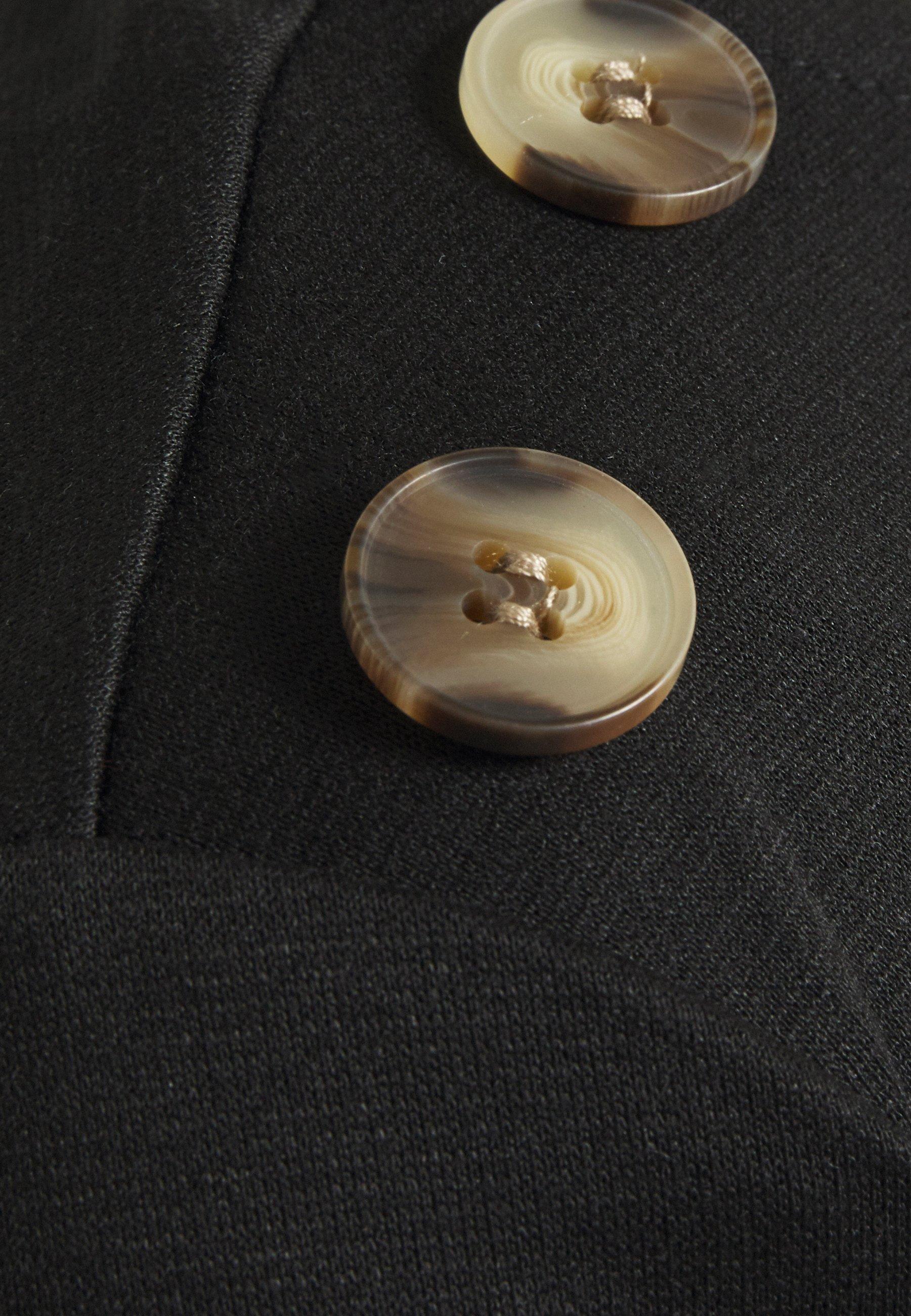 Vila Vitinny Shoulder Buttons - Topper Langermet Black/svart