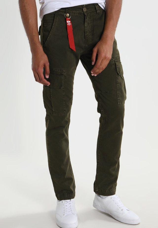 Pantalones cargo - black oliv