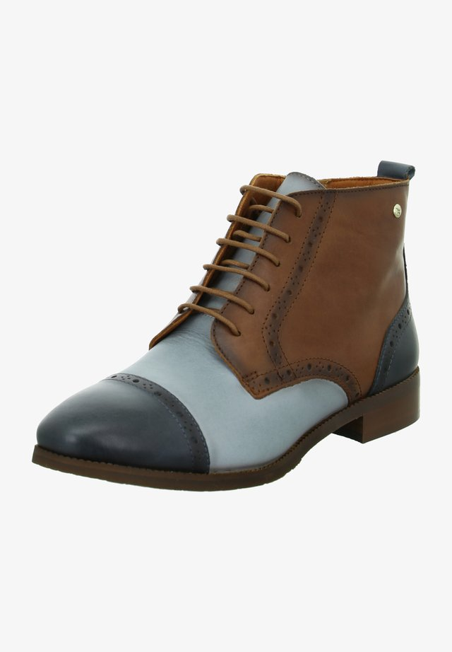Lace-up ankle boots - moon ocean