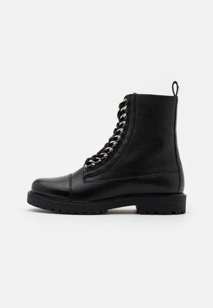 ROCK - Lace-up ankle boots - black