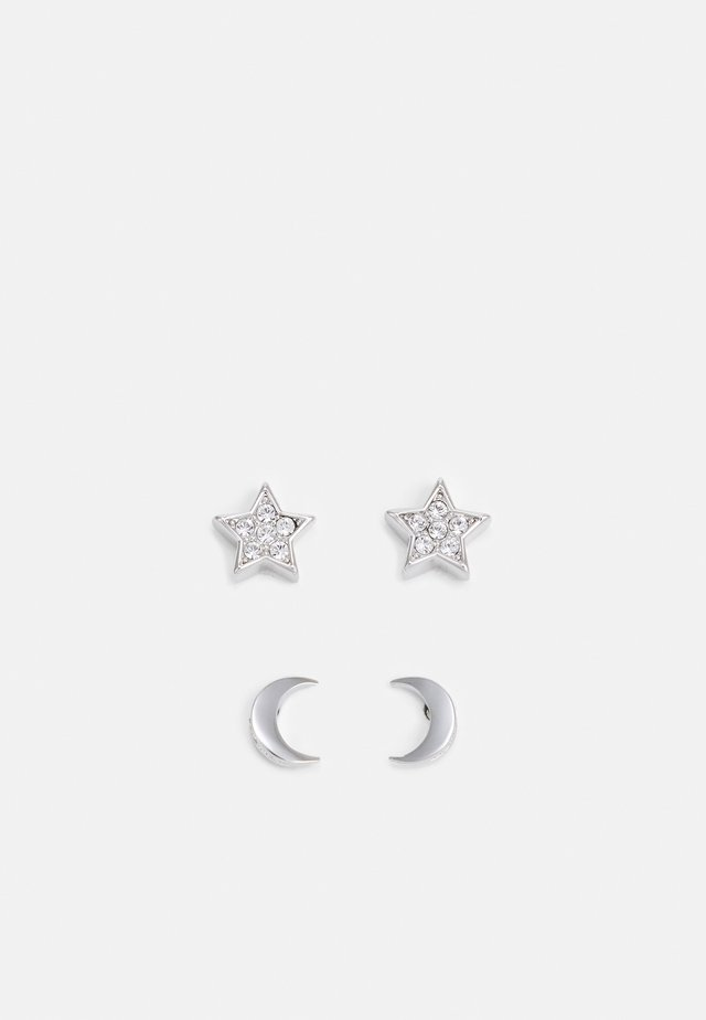 MOANNY PAVE STAR CRESCENT MOON EARRING GIFT 2 PACK - Korvakorut - silver-coloured