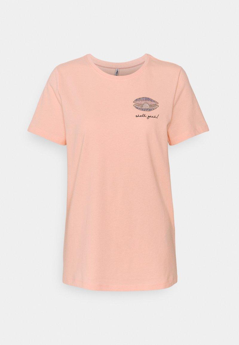 ONLY Tall - ONLKITA LIFE - Print T-shirt - peach melba