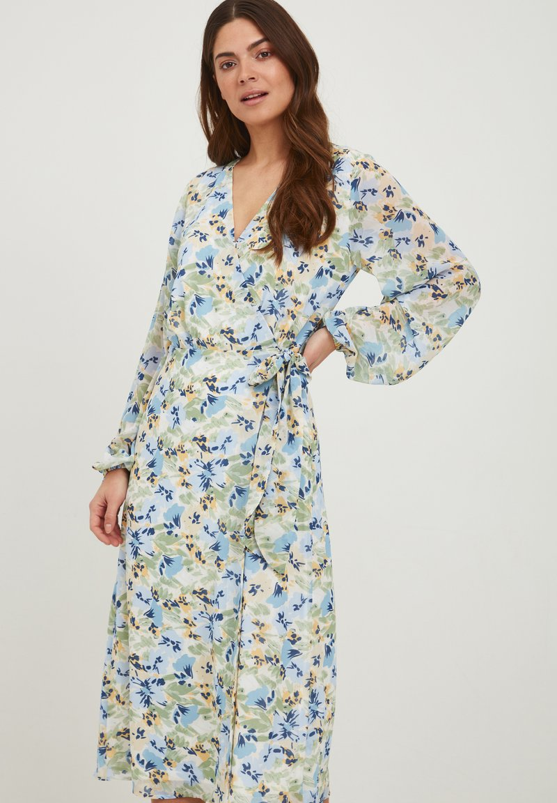ICHI - IXADILENE - Korte jurk - cashmere blue multi color