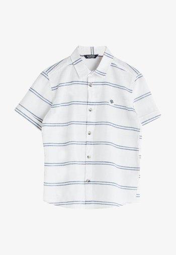 Shirt - navy striped