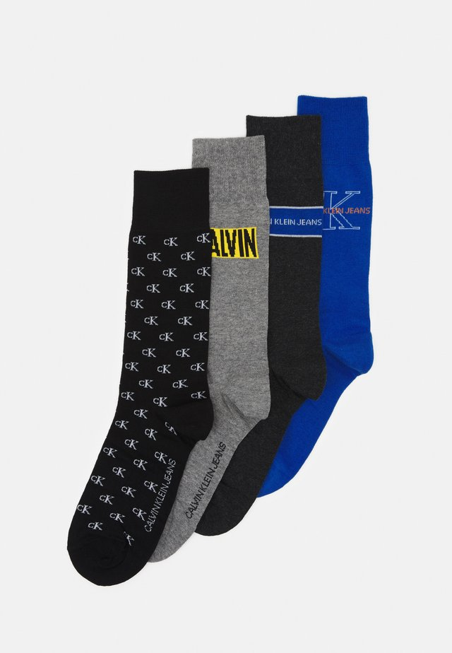 MEN CREW JEANS LOGO GIFTBOX 4 PACK - Calcetines - blue