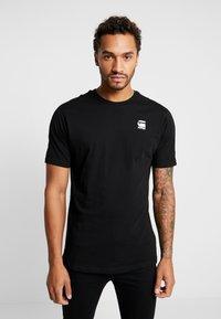 G-Star - KORPAZ LOGO - Print T-shirt - dark black - 0
