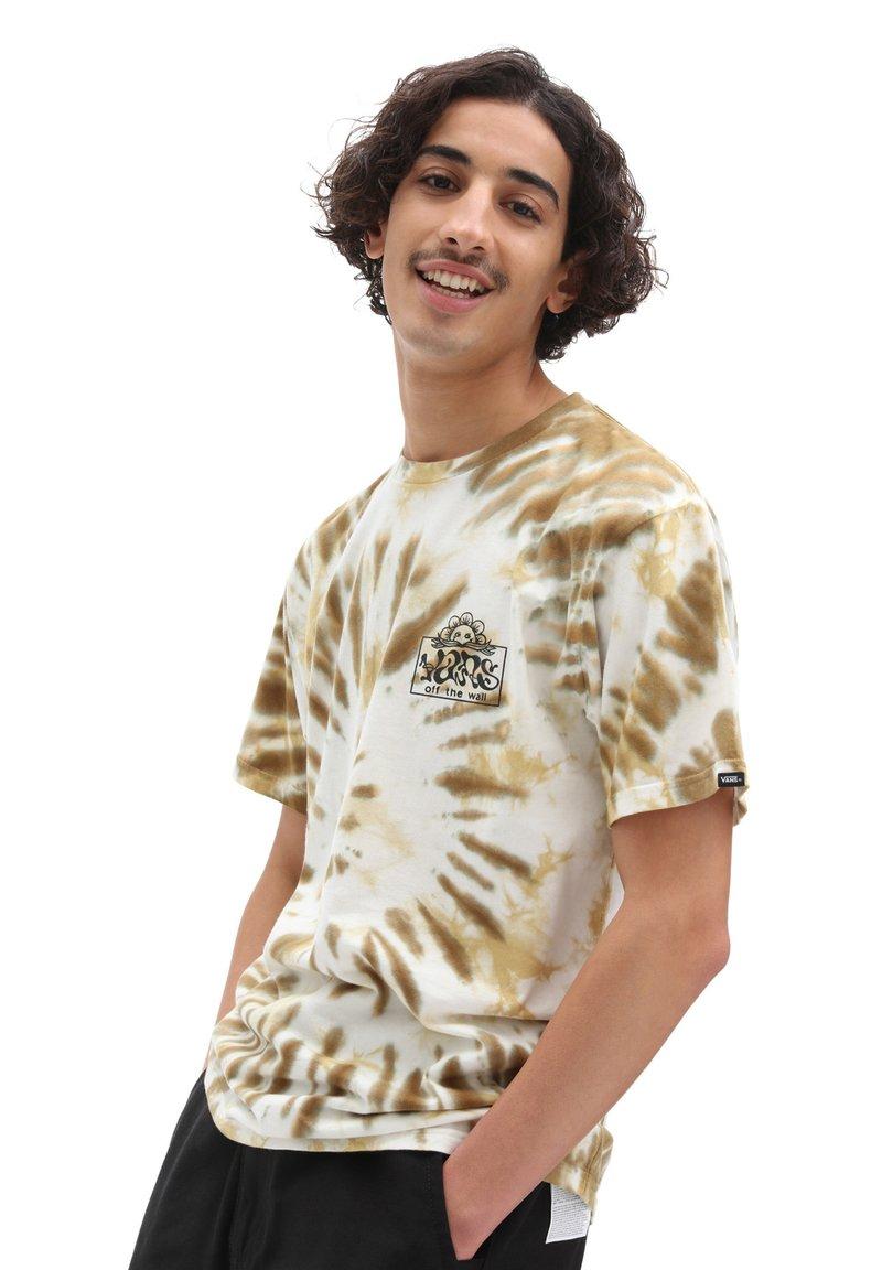 Vans - MN LOOK AHEAD SS - T-shirts print - nutria/tie dye