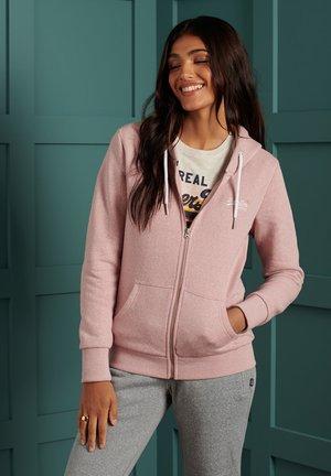 ORANGE LABEL - Zip-up sweatshirt - sandy pink snowy