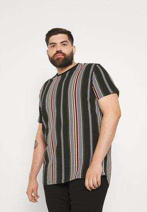 DENTON STRIPE LONGLINE TEE - T-shirt z nadrukiem - khaki