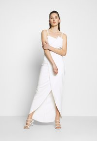WAL G. - PANEL DETAIL LONG DRESS - Occasion wear - white