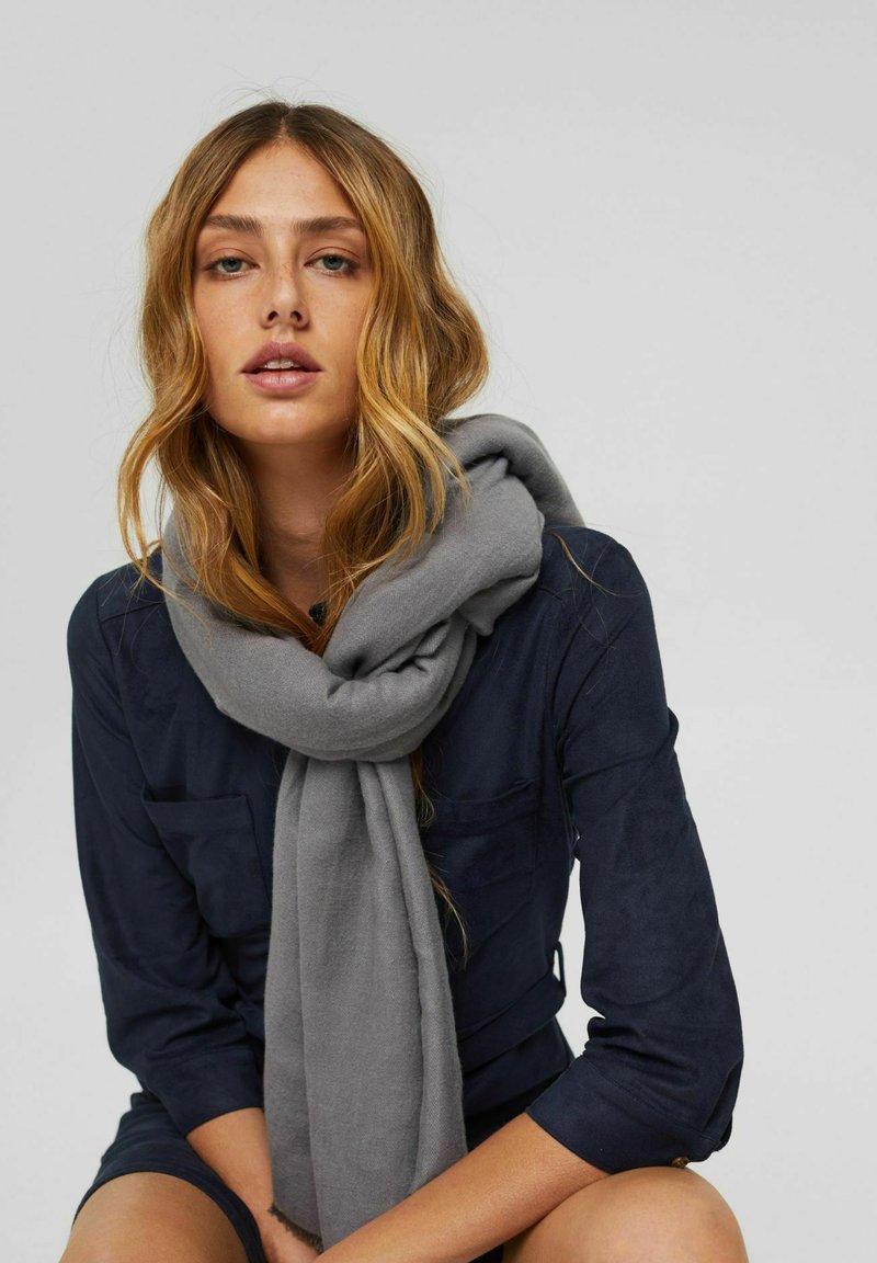 Esprit - DOUBLEFACE - Scarf - dark grey