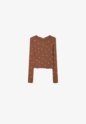 MIT BLUMENPRINT  - Long sleeved top - brown