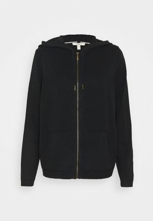 ZIP HOODED - Cardigan - black