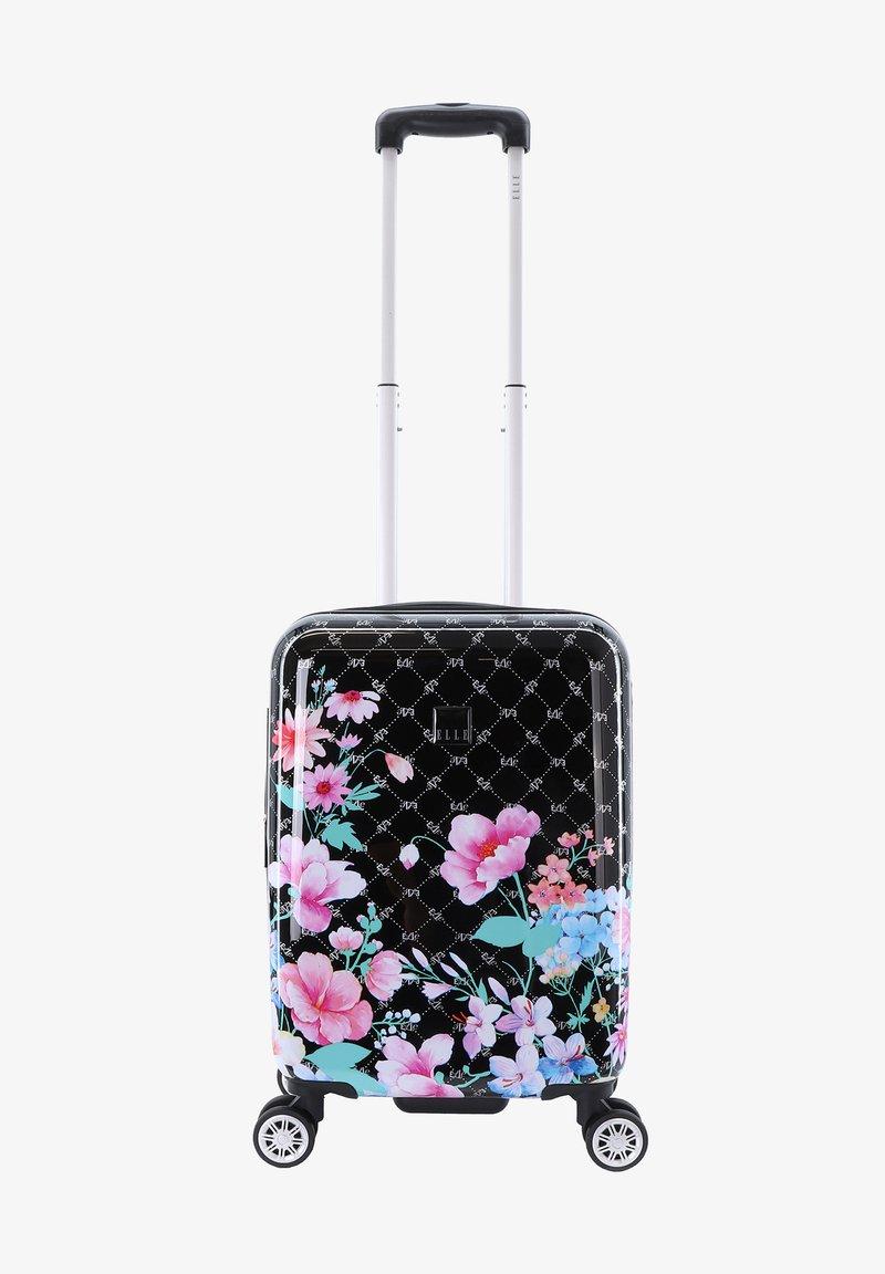 ELLE - FLOWER - Wheeled suitcase - schwarz