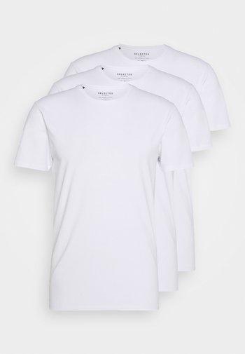 SLHNEWPIMA O NECK TEE 3 PACK  - Basic T-shirt - white