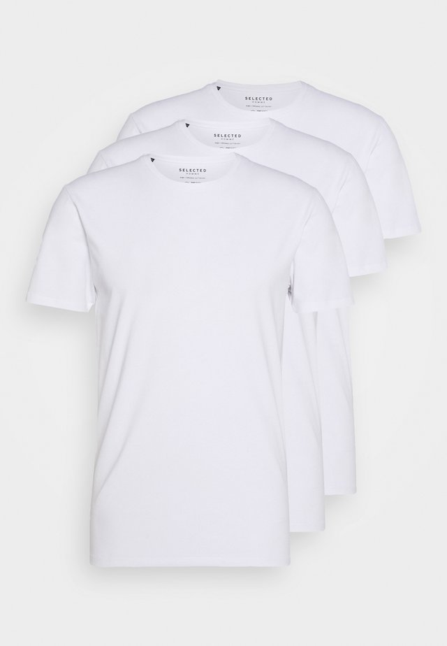 SLHNEWPIMA ONECK TEE 3 PACK  - Undertrøjer - white