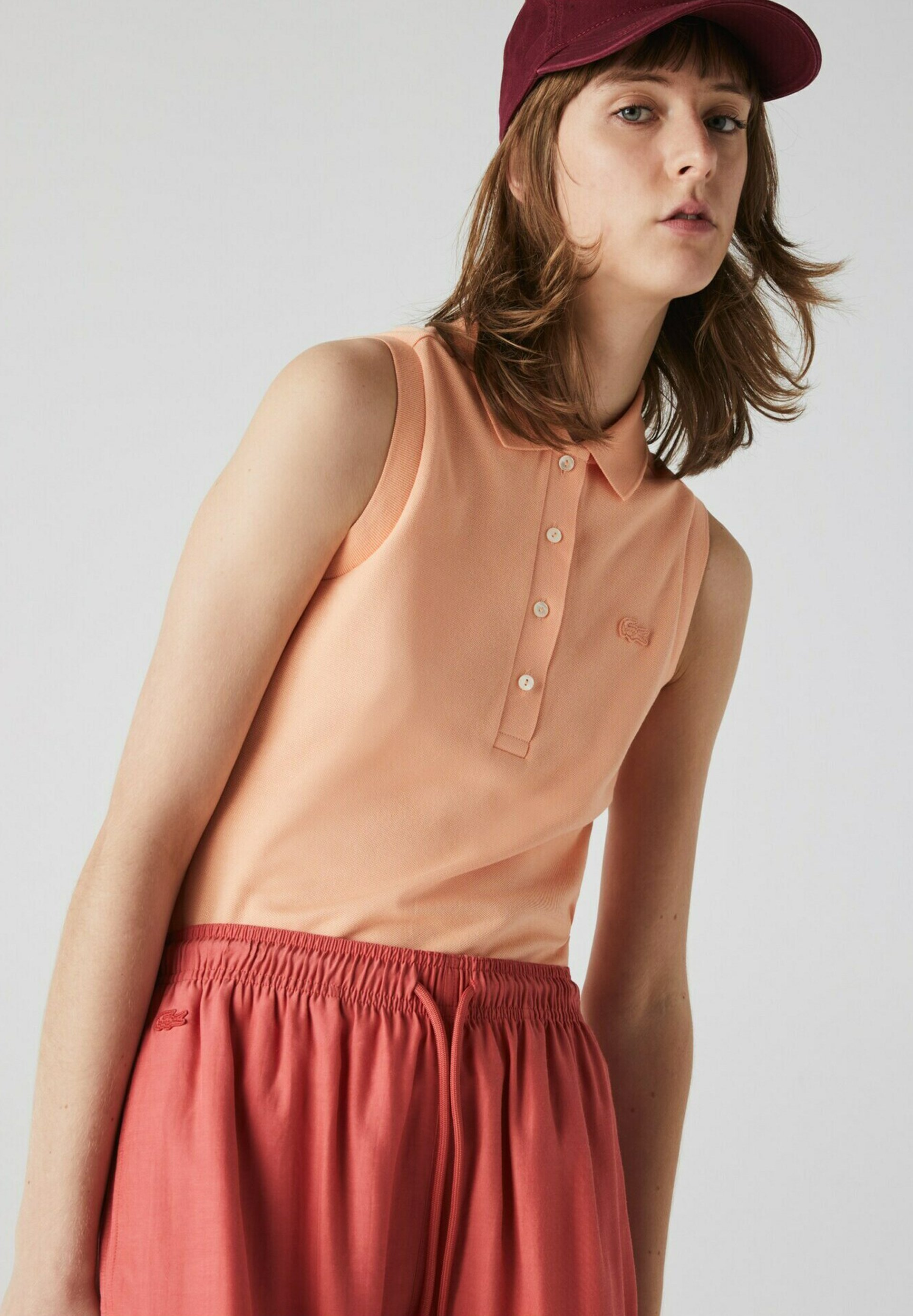 Damen SLEEVELESS BASIC SLIM FIT - Poloshirt