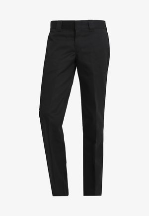 873 SLIM STRAIGHT WORK PANT - Tygbyxor - black