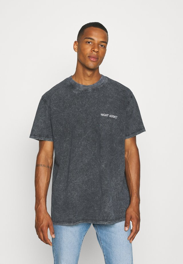 TEETH - T-shirt con stampa - black