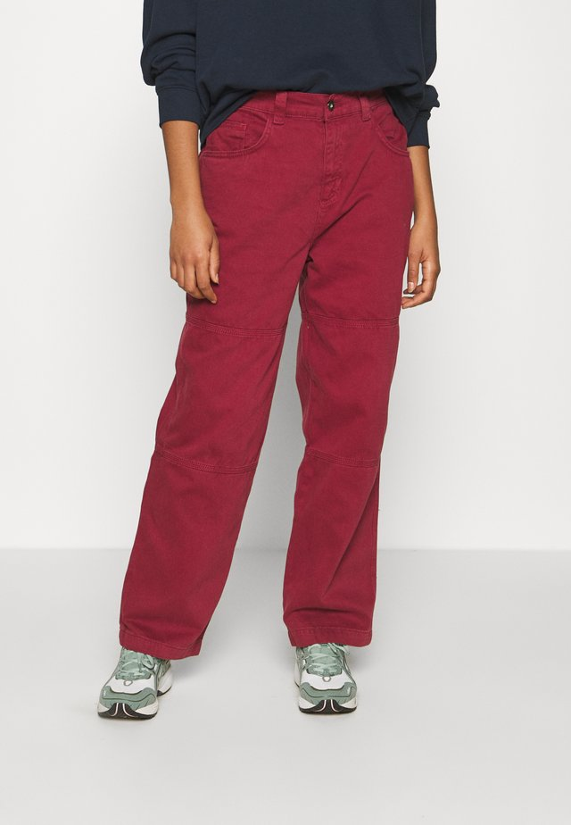 COMBAT TROUSERS - Bukse - burgundy