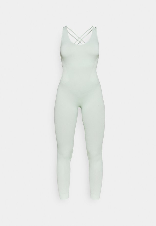 CROSS BACK LONG BODYSUIT - heldräkt - green