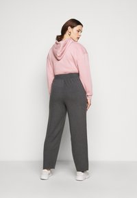 Anna Field Curvy - Tracksuit bottoms - mottled dark grey - 2