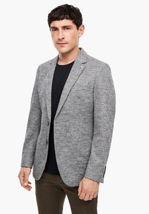 SLIM FIT - Blazer jacket - light grey knit